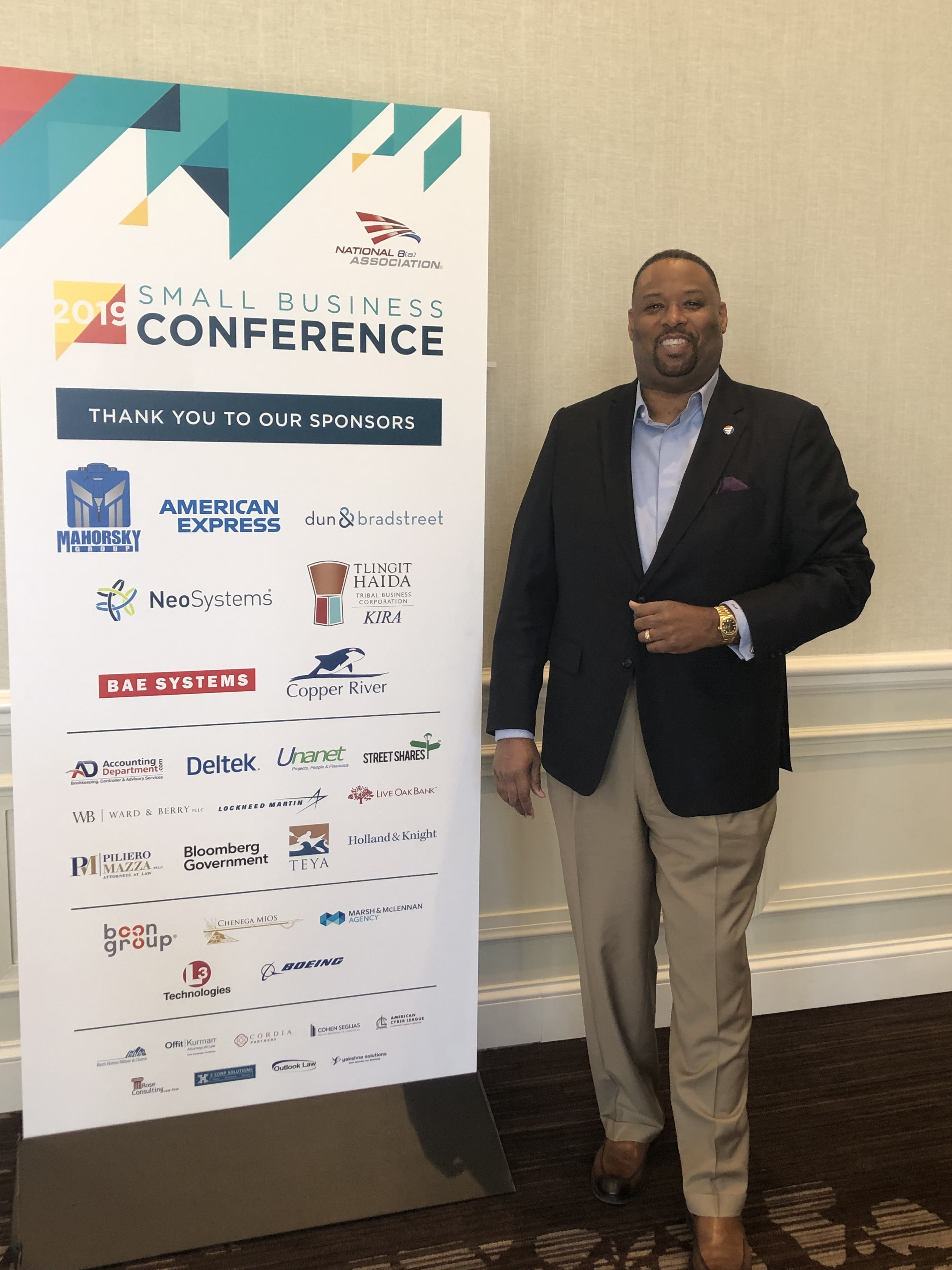 ARServices CEO, Jay McCargo at the National 8(a) Association's 2019 Small Business Conference last week in Nashville, Tennessee.